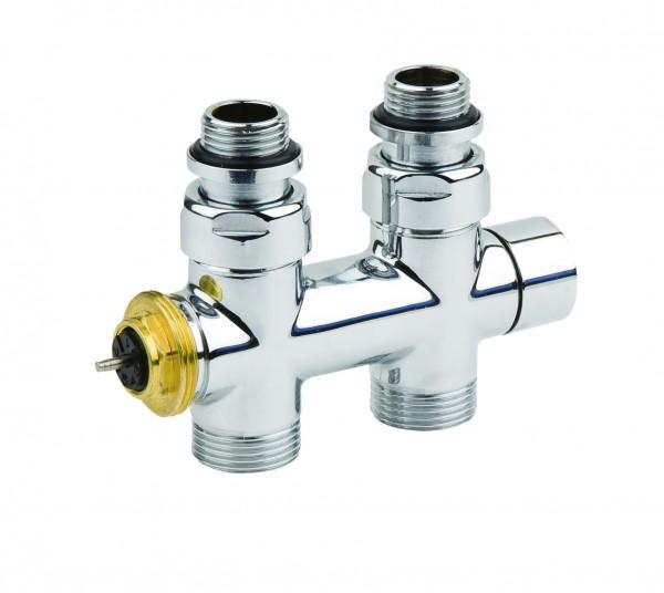 Corpotherma Design-Ventilarmatur, Durchgang, chrom