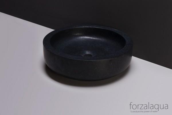 Forzalaqua Aufsatzwaschbecken Verona aus Naturstein (Granit), Ø40 x 12 cm