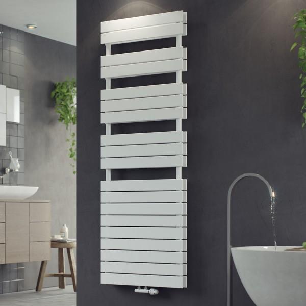 Corpotherma Badheizkörper Panio Scala Duo, 1195 x 600 mm, 1430 W, Mittelanschluss, weiß