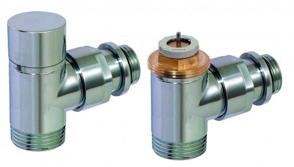 Corpotherma Design-Thermostatventil-Set, Eckform, chrom