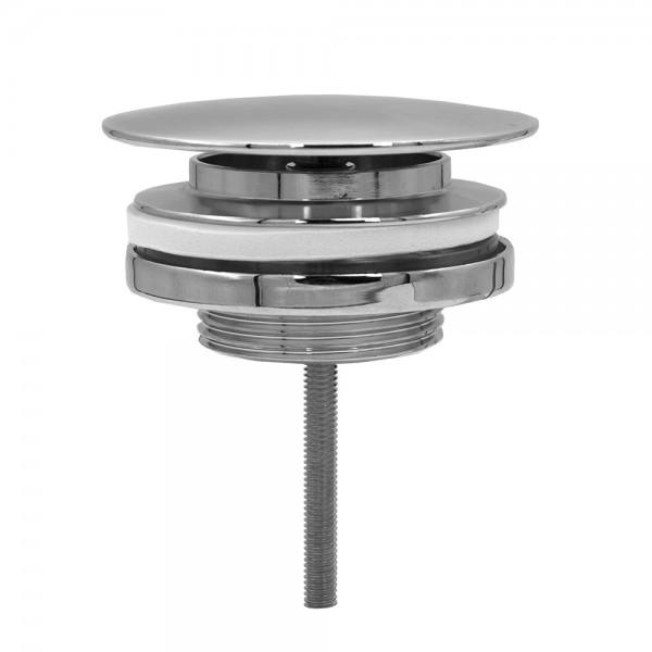 """VARIOSAN Design-Universalventil 12869, 1 1/4"""" x Ø 60 mm, Messing, verchromt, nicht verschließbar"""
