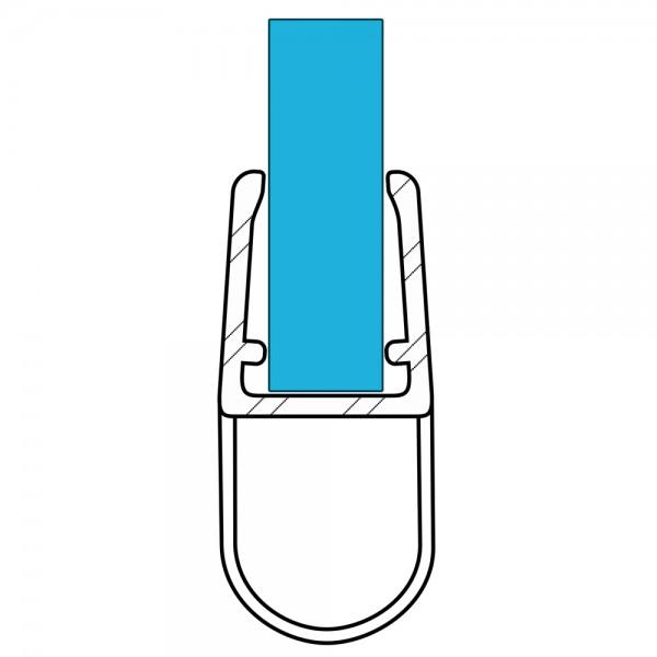 VARIOSAN Duschdichtung 10926, 100cm, für 6-8mm Glasstärke, S4, transparent