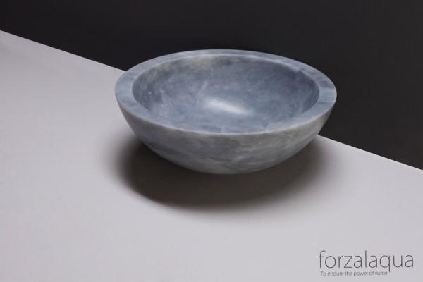Forzalaqua Aufsatzwaschbecken Roma aus Naturstein (Marmor), Ø40 x 15 cm, rund