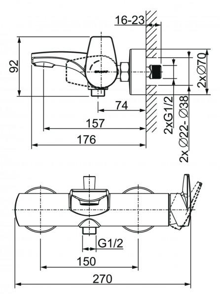 Bravat Quaruna WC-Papierhalter mit Deckel
