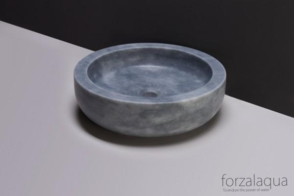 Forzalaqua Aufsatzwaschbecken Verona aus Naturstein (Marmor), Ø40 x 12 cm, rund