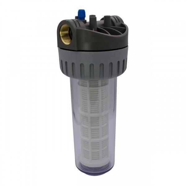 """VARIOSAN Vorfilter für Hauswasserwerke 12579, 1"""" IG, 8 bar Betriebsdruck, 6000 l/h Durchflussmenge, 0,06 mm Maschenweite"""