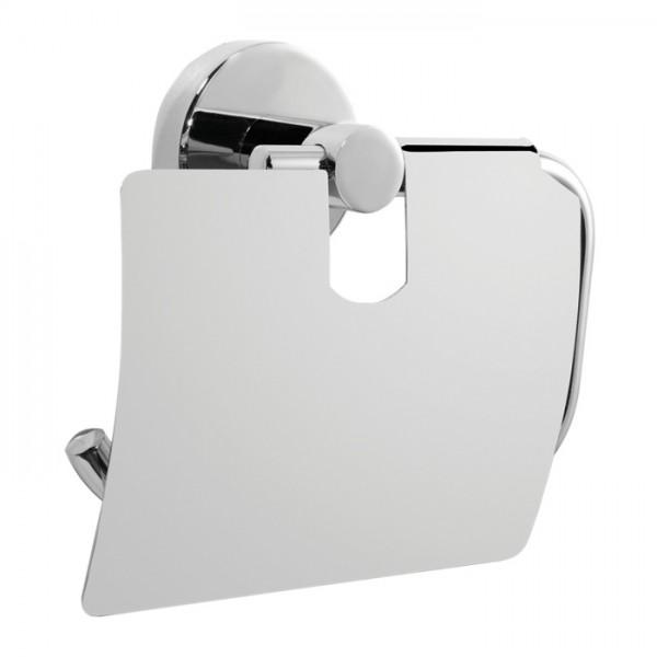 VARIOSAN Breda Toilettenpapierhalter mit Deckel 12005, verchromt